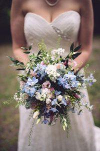 Rachel' s blue and white bouquet